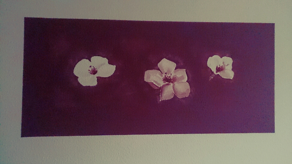 verschiedenArt: Kirschblüten auf Tapete - Detailansicht