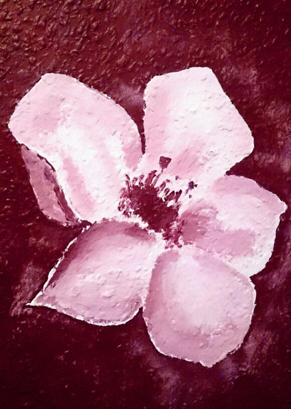 verschiedenArt: Kirschblüten auf Tapete - Detailansicht Blüte