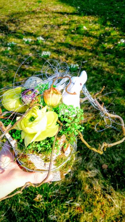 Osterdeko: Ostergesteck vom Kunsthandwerkermarkt