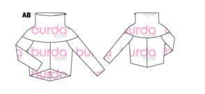 burda schnittzeichnung modell 109 10/2015