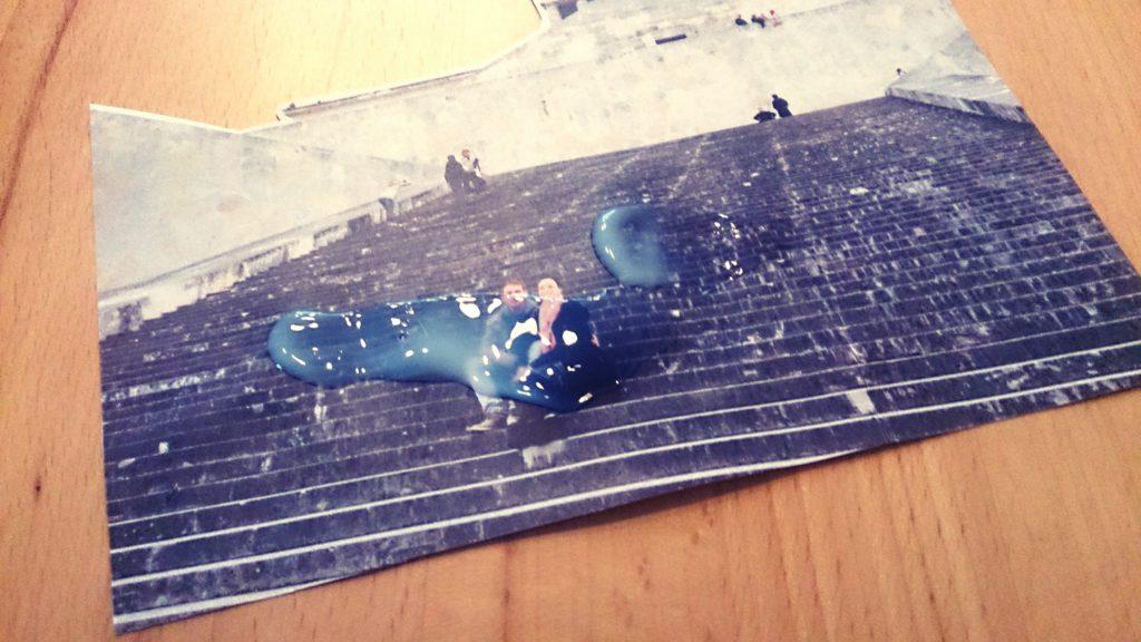 DIY Fototransfer Geschenk zum Valentinstag: Foto auf Holzbox übertragen, Foto mit Potch