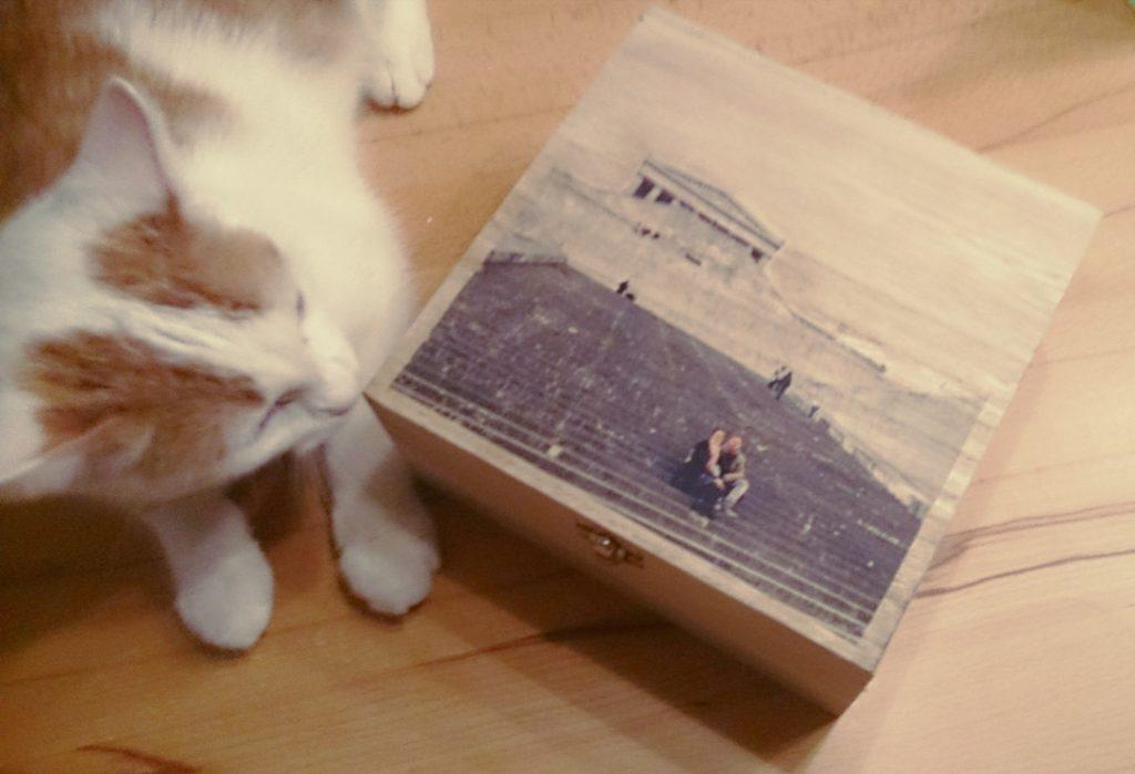 DIY Fototransfer: Foto auf Holzbox übertragen zum Valentinstag