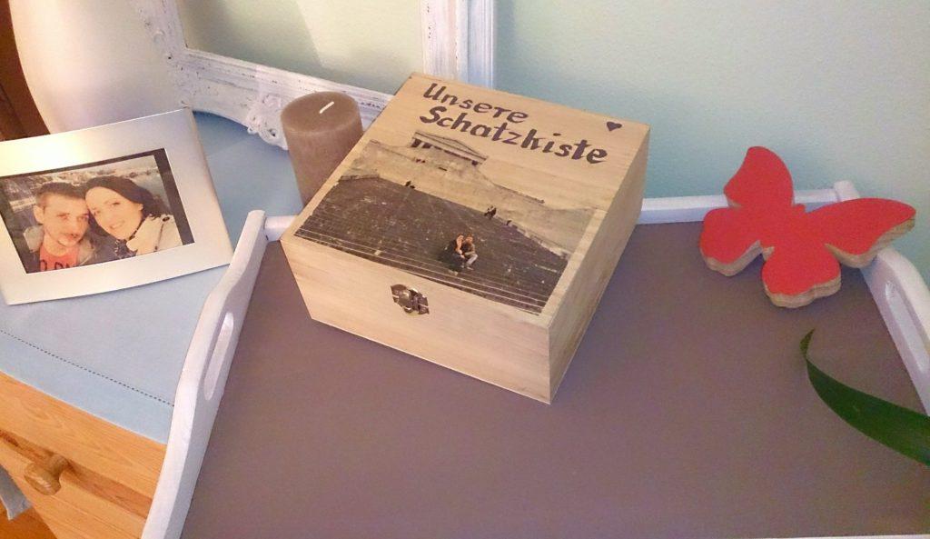 verschiedenArt DIY Fototransfer zum Valentinstag: Foto auf eine Holzbox übertragen