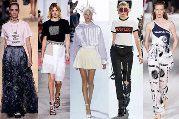 verschiedenArt: Inspiration vom Laufsteg in den Kleiderschrank - Beispiele Slogan Shirts