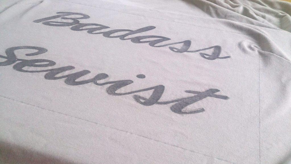 verschiedenArt: Slogan Shirt badass sewist