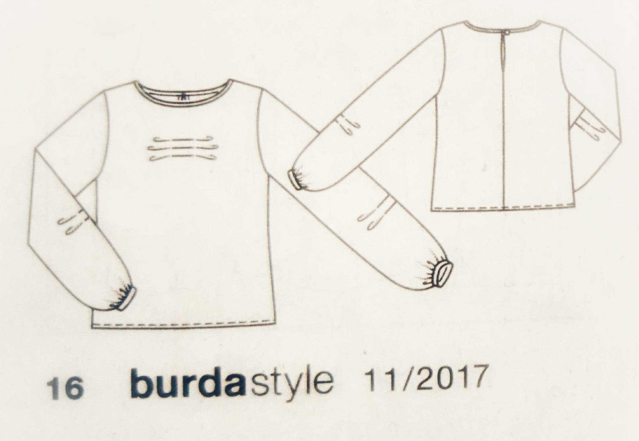 Nicki Shirt Schnitt aus der burda