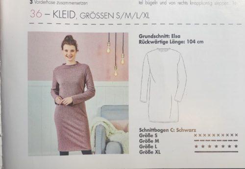 Das Schnittmuster des Kleides aus dem Schnittmusterheft